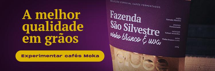 Banner para comprar cafés no site do Moka