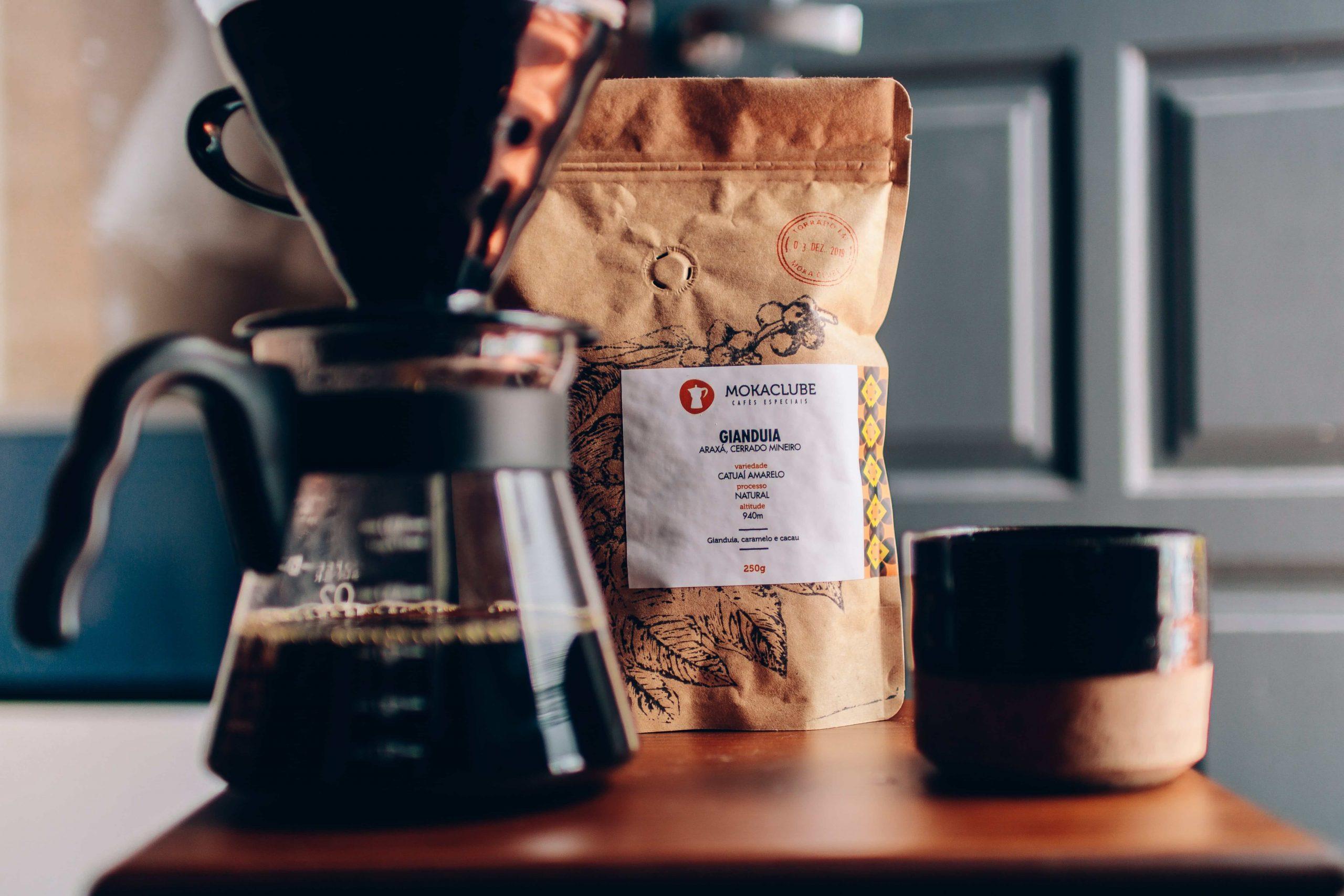 O café Gianduia, do Moka, é um exemplo de grão de grão com torrefação especial.