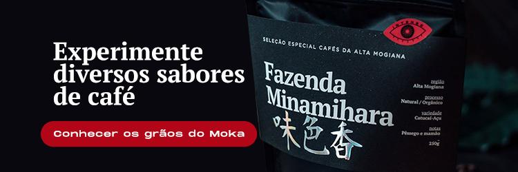 Banner para comprar cafés no site do Moka.