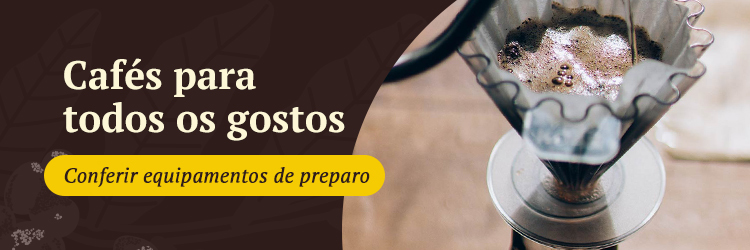 Banner para comprar equipamentos de café no Moka.