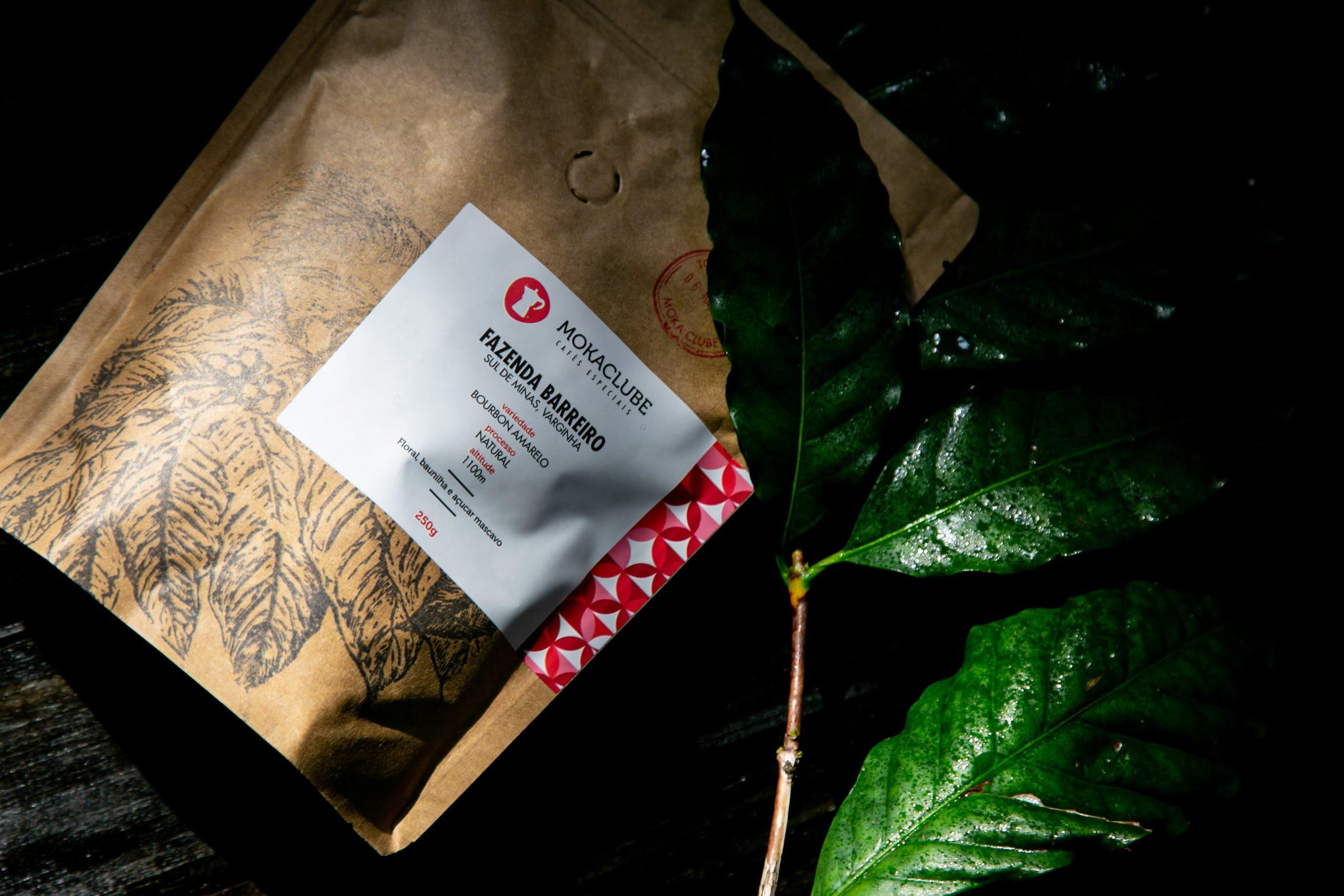 Café da Fazenda Barreiro, um dos tipos de grão de café do Moka Clube.