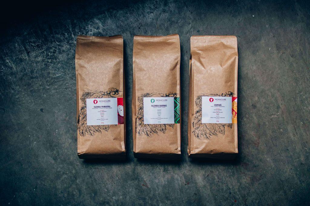 Três cafés especiais do Moka perfeitos para análise sensorial (Fazenda Primavera, Barinas e Coopiatã).
