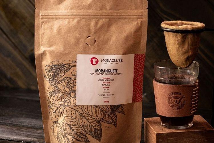 Embalagem do café Moranguetti
