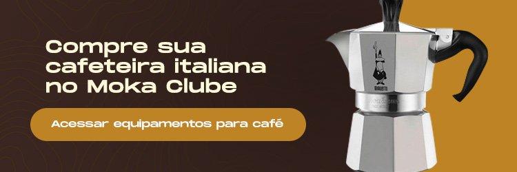 Banner para comprar uma cafeteira italiana no Moka Clube