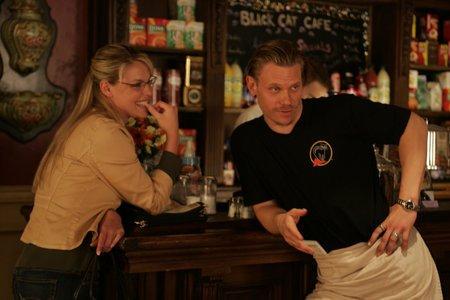 Cena de Onde tudo acontece, um dos filmes sobre café.
