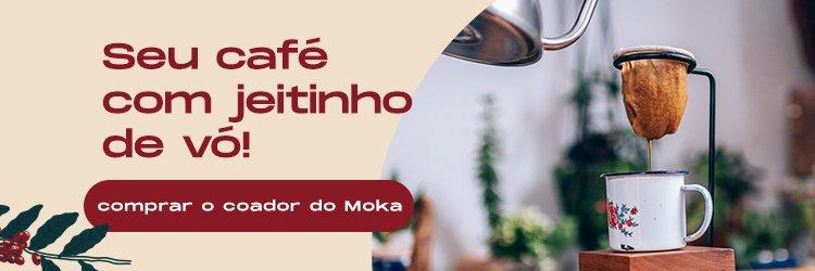 Botão para ir comprar o coador de café do Moka.