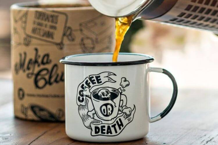 caneca branca coffee or death