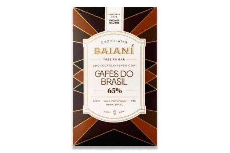 Barra de chocolate Baianí 65% cacau com café