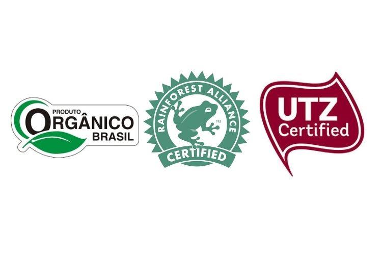 Selos de orgânico, Rainforest e UTZ